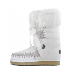 Botas Mou Eskimo Lace And Fur Blanco