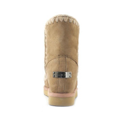 Botas Mou Eskimo Wedge Short Camel