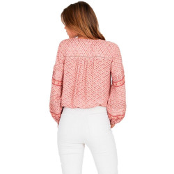 Camisa Amuse Lakefront Woven Estampado Rosa