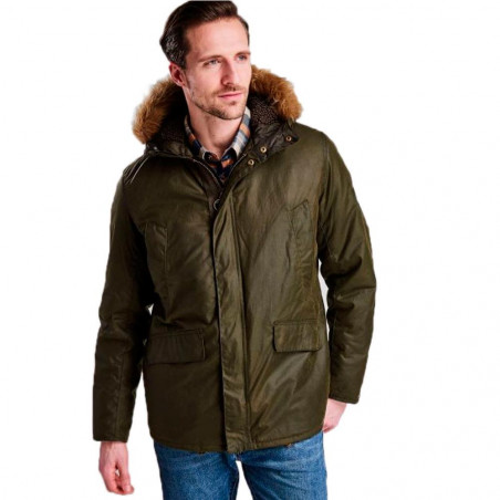 Chaqueta Barbour Sub Wax Verde