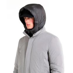 Chaqueta Woolrich City Coat Gris Claro