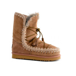 Botas Mou Eskimo Dream Lace Up Camel