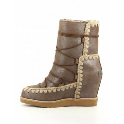 Bota Mou French T. Wedge Short Dust Pink Brown