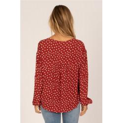 Camisa Amuse Aria Rojo