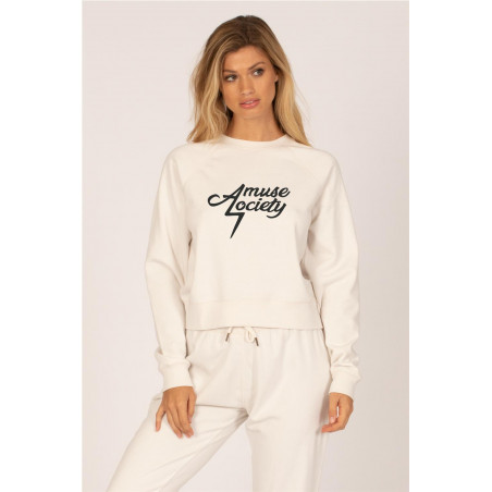 Sudadera Amuse Electric Blanco