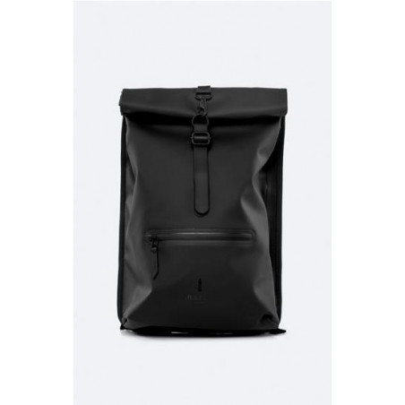 Mochila Rains Roll Top Negro
