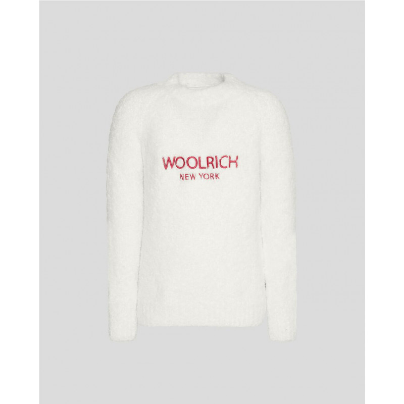 Jersey Woolrich Mujer Crew Blanco