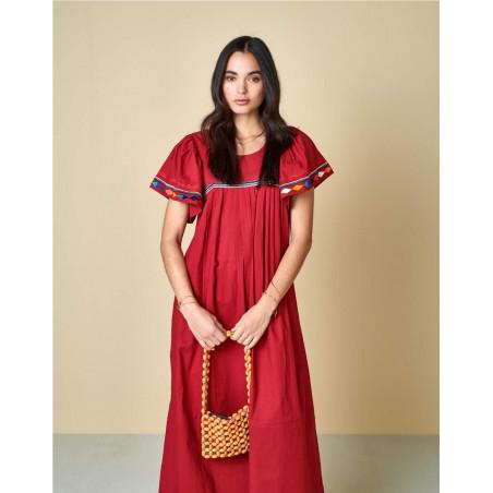 Vestido Bellerose Diatou Rojo