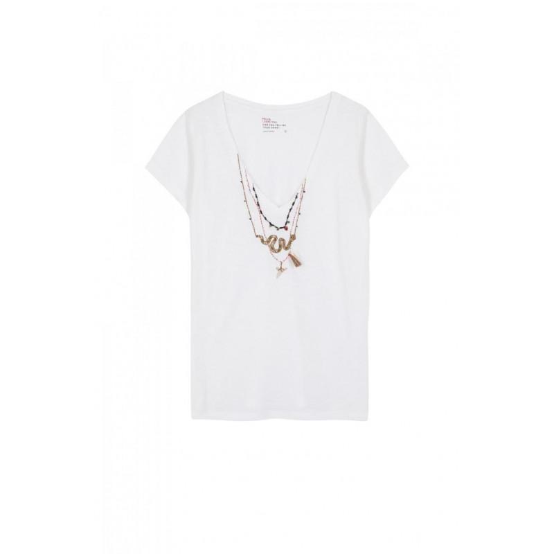 Camiseta L.Harper Tonton Snake Blanco