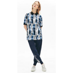 Polo Lacoste Live Loose Fit Estampado