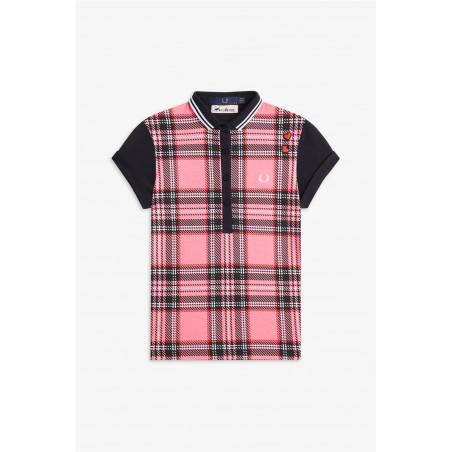 Camisa Fred Perry Tartan Rosa