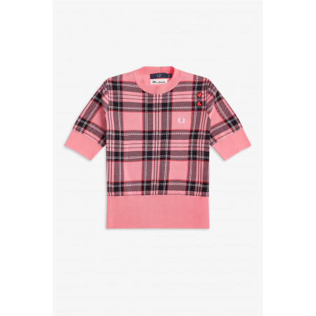 Jersey Fred Perry Tartan Rosa