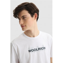 Camiseta Woolrich Macro Logo Blanco