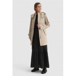 Vestido Woolrich Popeline Long Whiteblack