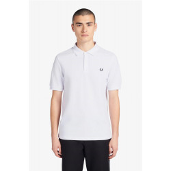 Polo Fred Perry Plain Blanco
