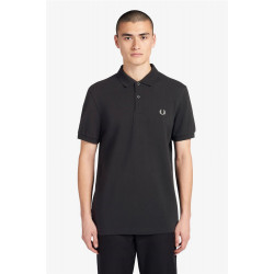Polo Fred Perry Plain Negro