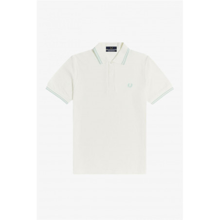 Polo Fred Perry Twin Blanco