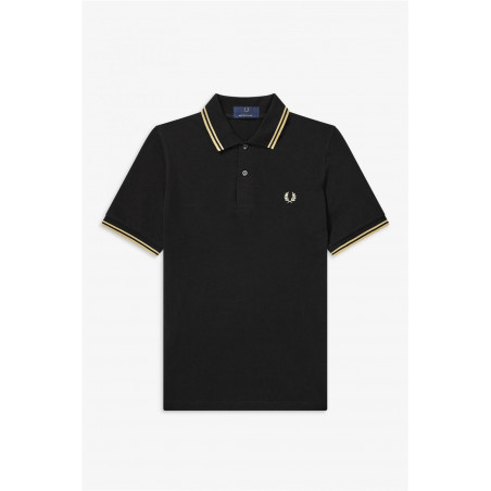 Polo Fred Perry Twin Negro...