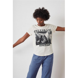 Camiseta Leon  Harper Toro Blanco
