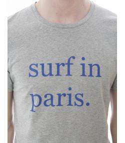Camiseta Hombre SURF IN PARIS Arsène Gris/Marino
