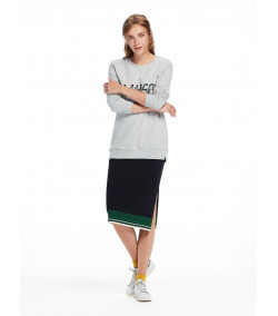Jersey Sudadera Mujer MAISON SCOTCH & SODA Longer Lenght Logo